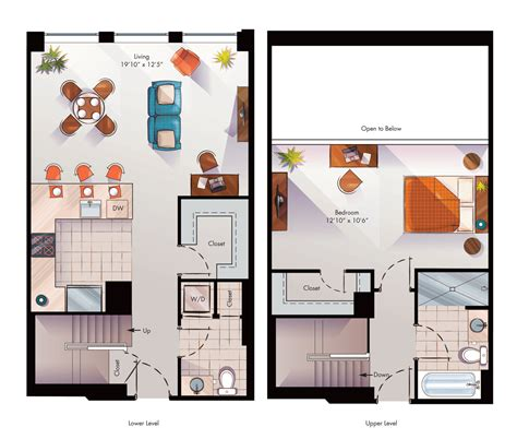Loft Style Floor Plans by Loft Style Apartments The Lansburgh