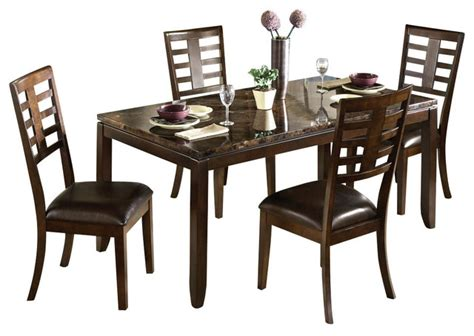 standard furniture bella 7 piece dining room set w bench standard furniture bella 5 piece dining room set with faux