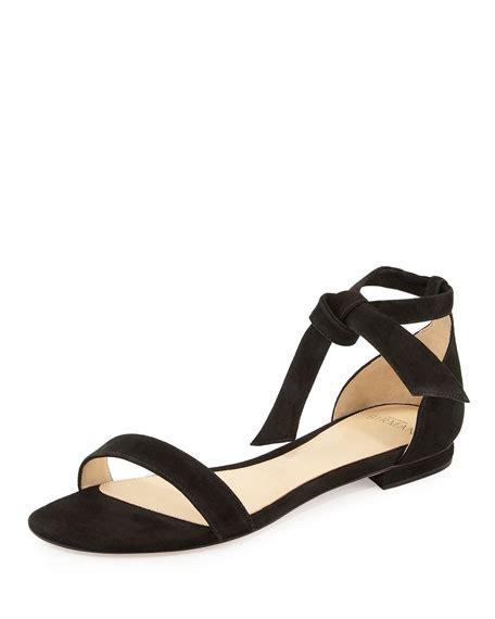ankle tie flat sandals alexandre birman clarita suede ankle tie flat sandal