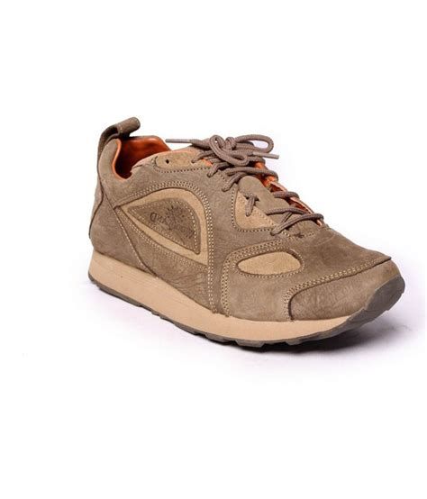 buy woodland khaki leather casual shoes for snapdeal