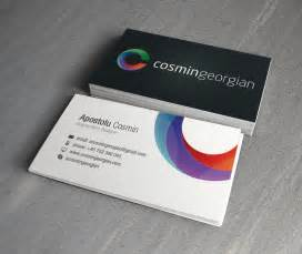 picture business cards cosmin georgian business card digital graphic design