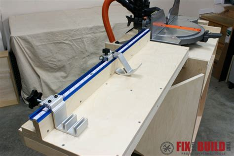 table saw with automatic stop mobile miter saw station part 2 fixthisbuildthat