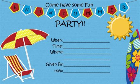party themes end of summer end of year summer watermelon party invitation wording