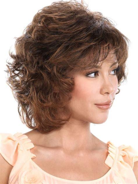 Medium Wig classic brown medium curly hair wigs