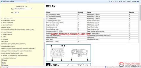 pajero aircon wiring diagram wiring diagram manual