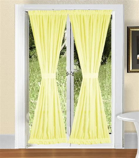 Light Yellow Curtains Solid Light Yellow Colored Swag Window Valance Optional Center Available