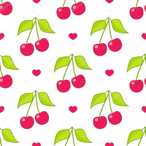 svg pattern browser seamless vector pattern cute abstract cherry with branch