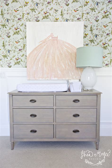 Grey Dresser Nursery by Gray Changing Table Transitional Nursery Studio Mcgee
