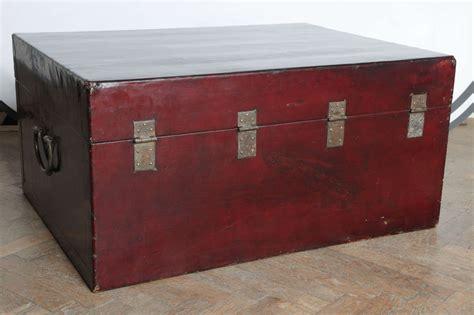 Handmade Trunk - export trunk handmade of pig skin at 1stdibs