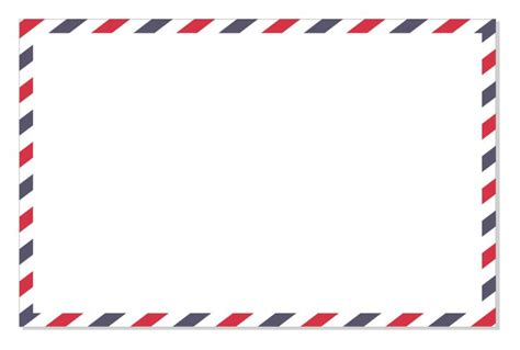 printable envelope borders final airmail border png 823 215 555 surf culture
