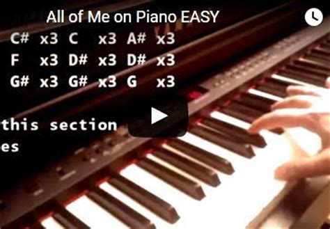 tutorial keyboard all of me easy piano songs piano tutorials and lessons for beginners