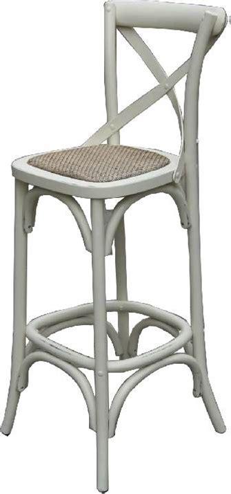 furniture bar stool perth cross back bar stool in white veranda home garden