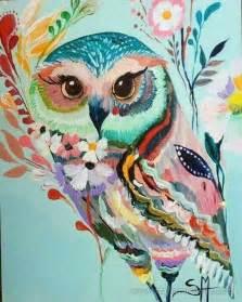 love this owl beautiful colors art pinterest