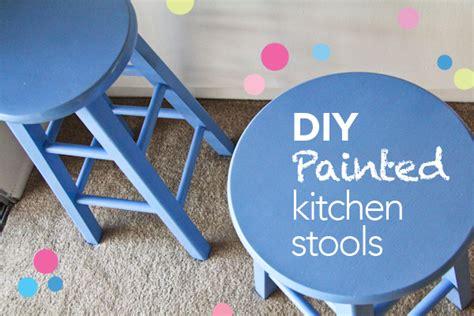 diy design painted kitchen stools chef julie yoon