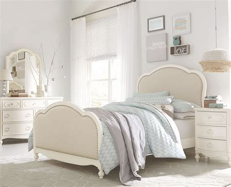 harmony bedroom set harmony antique linen white youth victoria padded panel