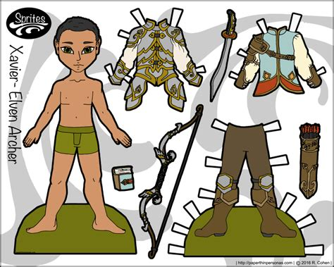 printable elf paper dolls elf archives paper thin personas