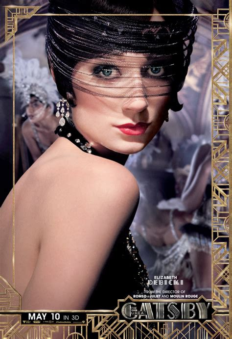 the great gatsby movie the great gatsby character poster elizabeth debicki