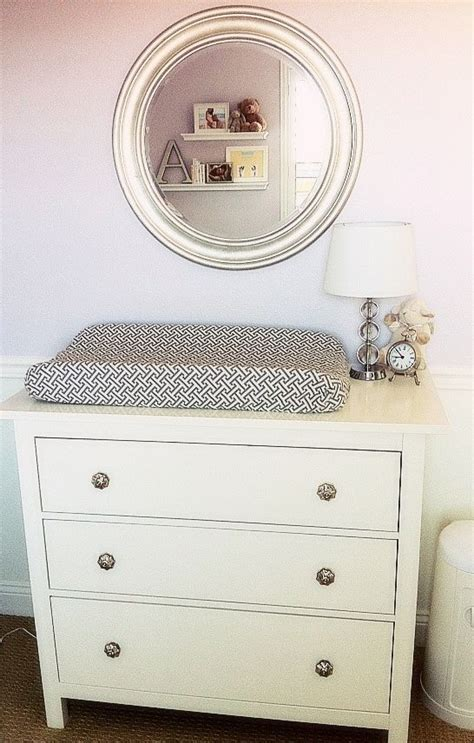 changing pad on ikea dresser love the changing table and mirror both from ikea baby