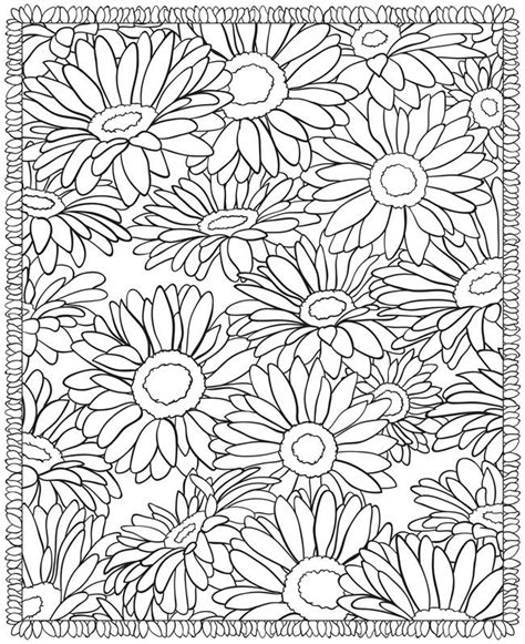 Advanced Flower Coloring Pages free coloring pages of 3d for adults