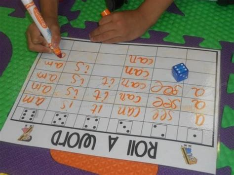 roll a word laminate the game you can choose the 6 sight words you want the students to play the