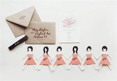 diy bridesmaids cards once wed