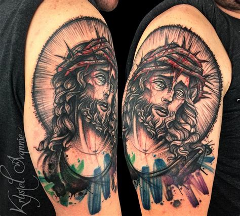 tattoo now jesus by krystel ivannie tattoonow