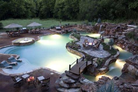 Elaborate Backyard Pools Elaborate Pool Landscaping Pools