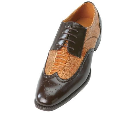 shoe and dress shoes bolano mens perforated cognac brown lace up wing tip oxford dress shoes ebay