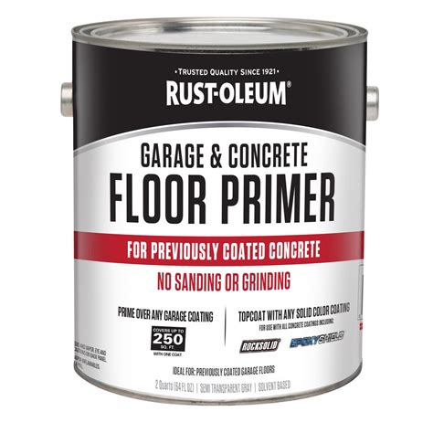 rust oleum 2 qt garage and concrete interior floor primer 306196 the home depot