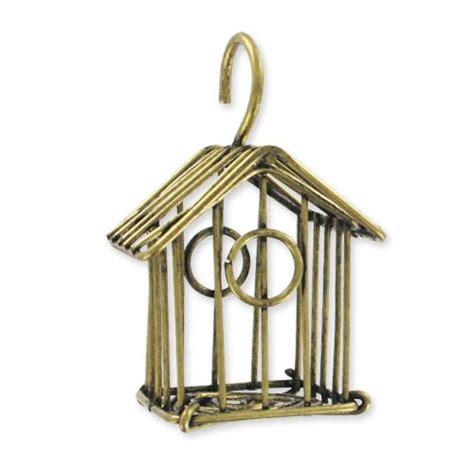 gabbia uccello pendente gabbia per uccello mm 49 bronzo x1 perles co