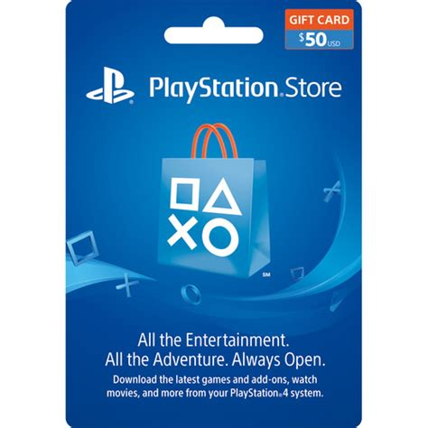 B H Gift Cards - sony playstation store 50 gift card 3002072 b h photo video