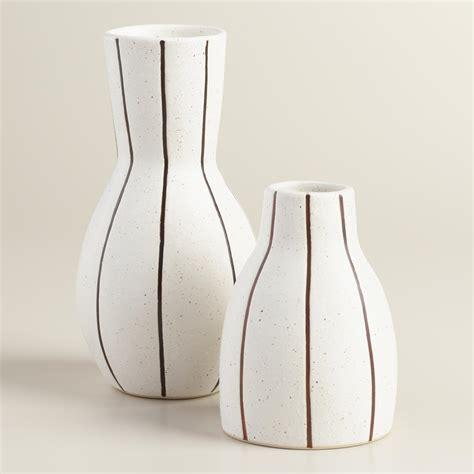 black and white pinstripe vase world market