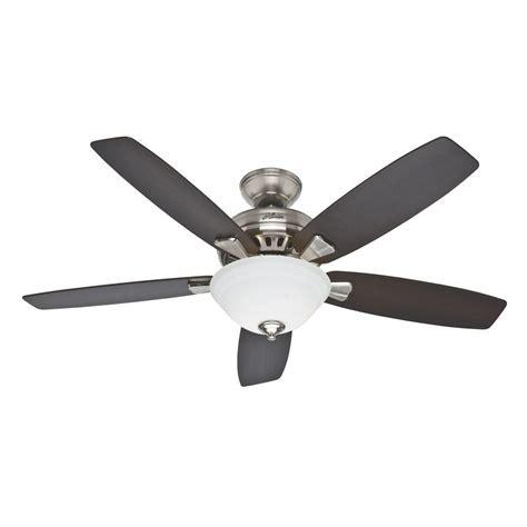 hunter regalia brushed nickel ceiling fan hunter banyan 52 in indoor brushed nickel ceiling fan