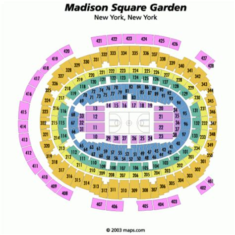Square Garden Seating Map by Square Garden Insidearenas