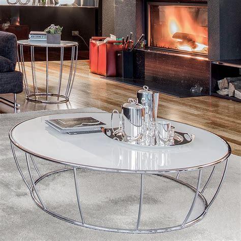 table basse metal blanc amburgo 6287 table basse ronde tonin en m 233 tal plateau en