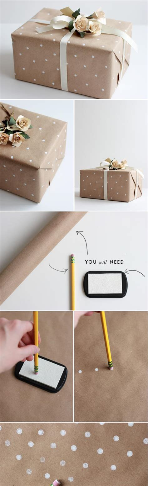 How To Make A Paper Wrap - diy how to make polka dot wrapping paper so home