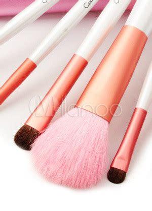 7 Set Hair Makeup Brush Set Animal Model Kuas Wajah Berkualitas charming pink animal hair makeup brushes set of 7 milanoo