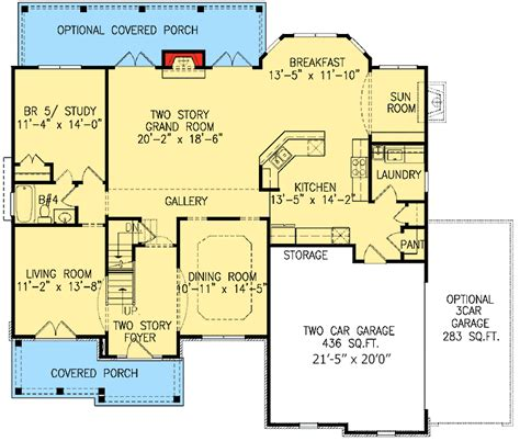 Study Or Extra Bedroom 15673ge Architectural Designs Bungaloft House Plans