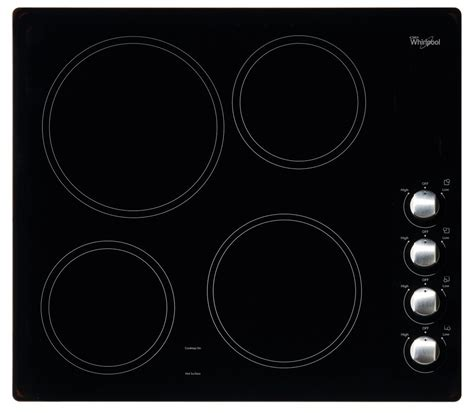 whirlpool 24 inch electric ceramic glass cooktop in black
