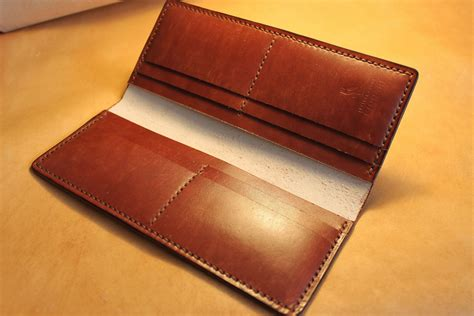 how to make a leather card holder a leather wallet simple