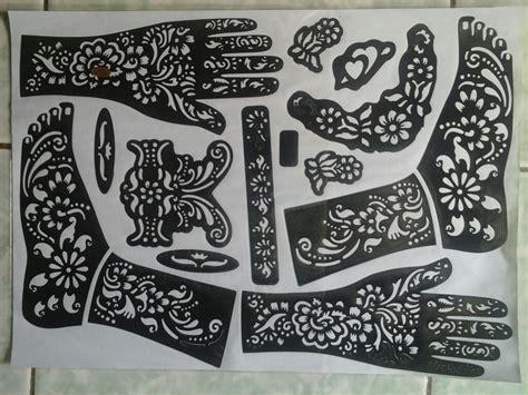 Cetakan Henna Motif Sticker Cetakan Henna Motif jual cetakan pacar hena toko herbal ahas