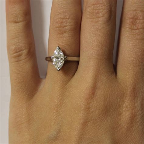 Marquise Engagement Ring by Co Platinum Marquise Cut Solitaire Engagement Ring