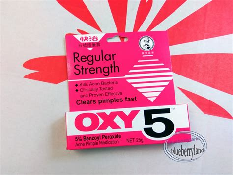 oxy 5 acne medication clear pimple treatment