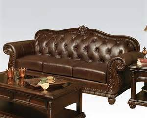 Leather Sofas And Loveseats For Sale Traditional Sofa In Cherry Anondale By Acme Furniture Ac15030