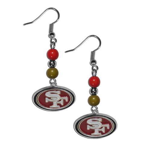 the sports fan zone san francisco 49ers fan bead dangle earrings