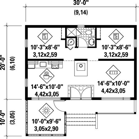600 sf house plans 600 sq ft plans pinterest