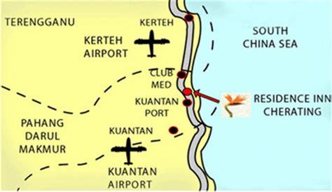 eastana cherating resort map cherating location map direction travel map peta