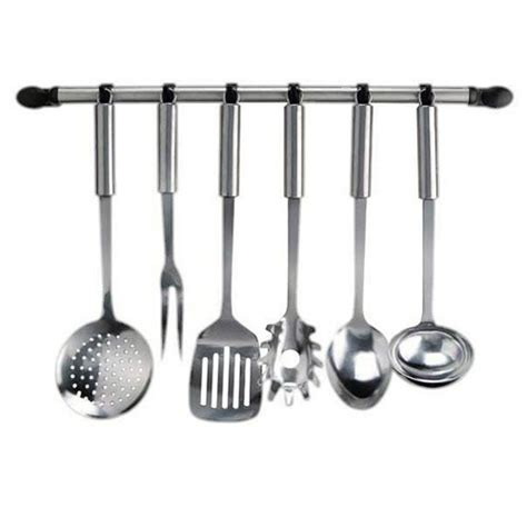 Kitchen Utensil Rail Stainless Steel by Kitchen Utensil Holder Hook Rail Set Stainless Steel