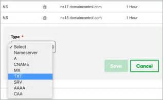 domain verification key updation