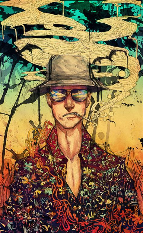 hunter s thompson fan art slacker shack